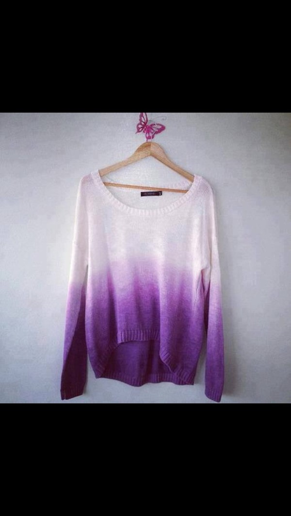 sweater purple sweater