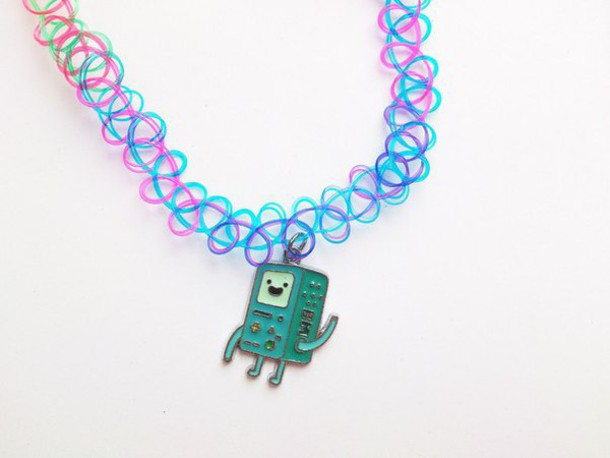 jewels choker necklace choker necklace adventure time bmo