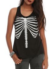 skeleton,rib cage,ribs,t-shirt