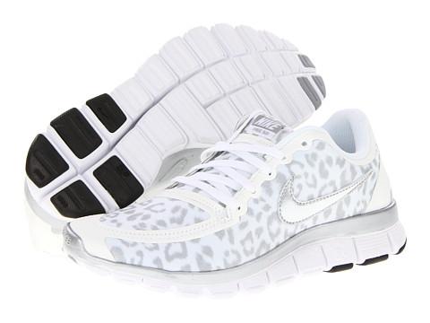 huge selection of 1465e 86077 Nike Free 5.0 V4 White Wolf Grey Metallic Silver - Zappos.com Free ...