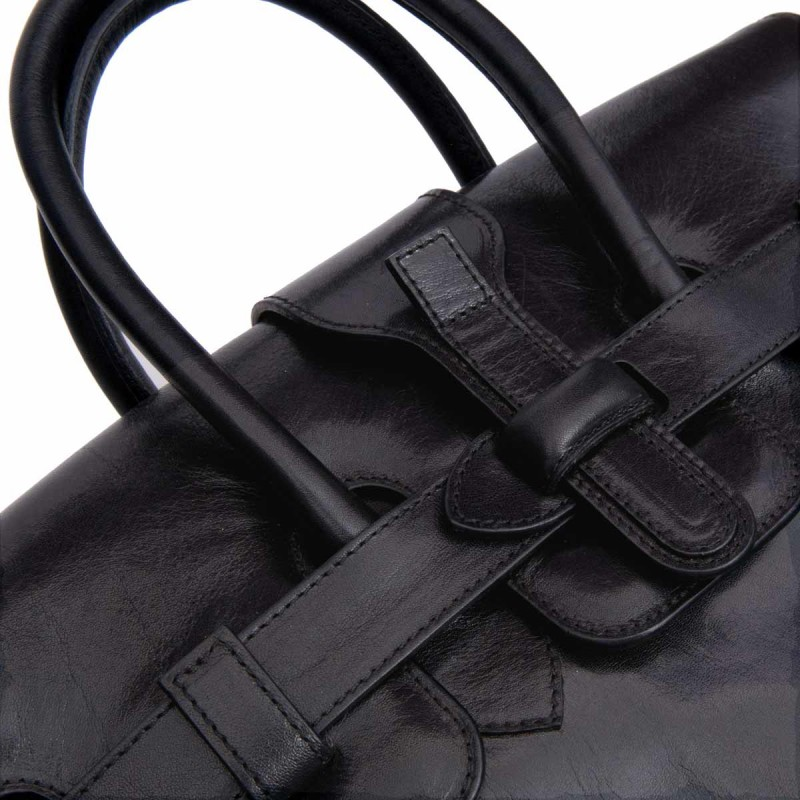 Italian Leather Bag | Maxwell Scott: The Clarissa | Birkin Style Bag - £315.00