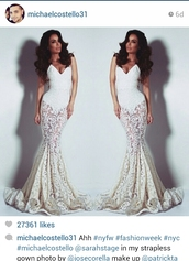 dress,white dress,white lace dress,strapless dress