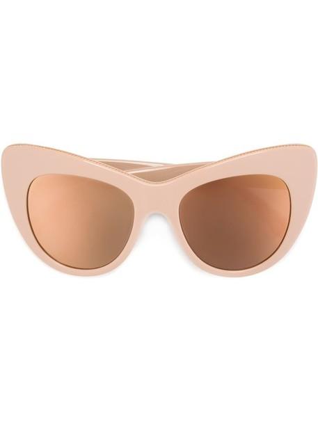 Stella McCartney oversized sunglasses purple pink