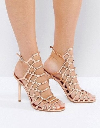 shoes steve madden rose gold