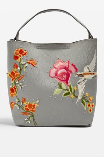 Topshop embroidered bag