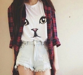 shirt cats catlover white t-shirt meow