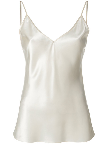 Joseph top women white silk