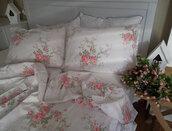 coat,home decor,bedding,wintage,rose decor,cotton duvet cover,cotton duvet,bedroom,shabby chic,roses duvet