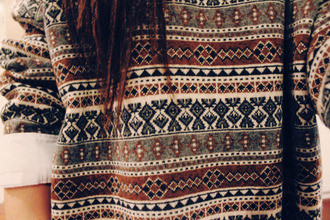 sweater aztec jumper brown shorts