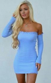 dress,baby blue,short dress