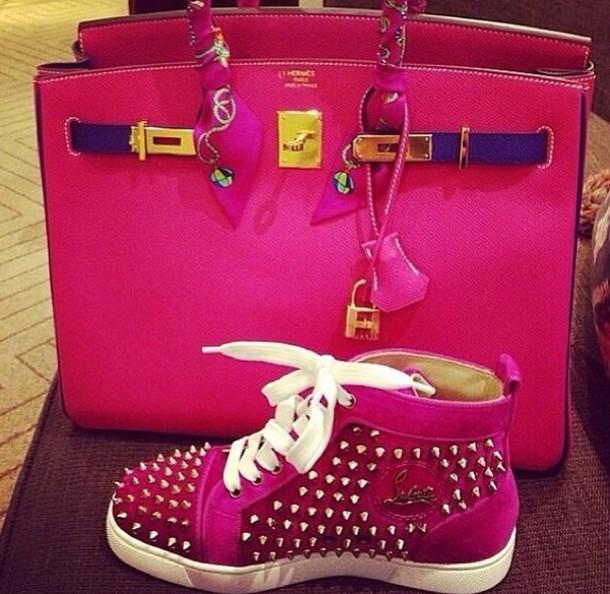 knock off christian louboutin - Bag: pink, shoes, louboutin - Wheretoget
