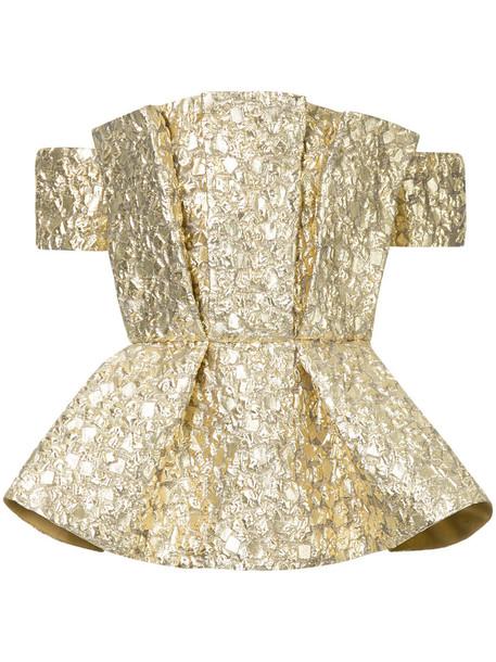 Bambah blouse metallic women cotton grey top