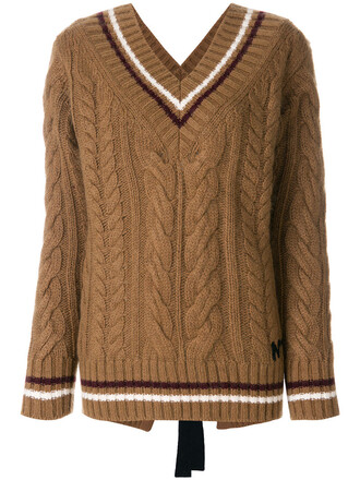 jumper women mohair wool brown sweater