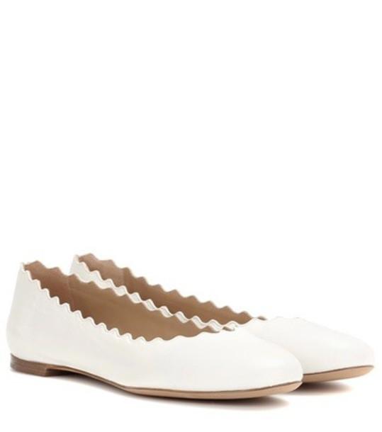Chloé Lauren ballerinas in white