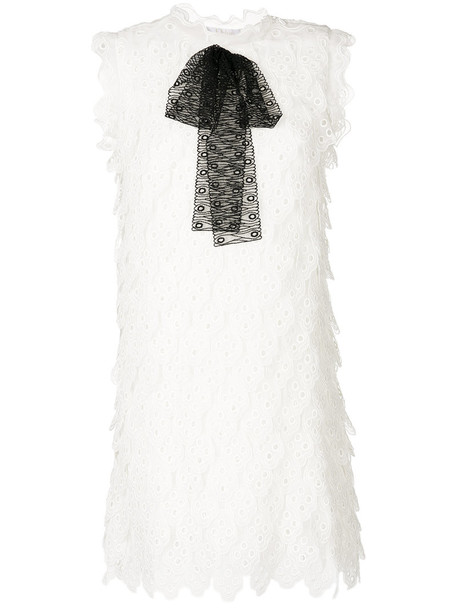 dress lace dress women layered lace white cotton silk