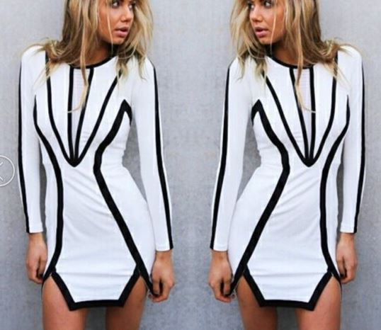 Geometric Clarity Dress