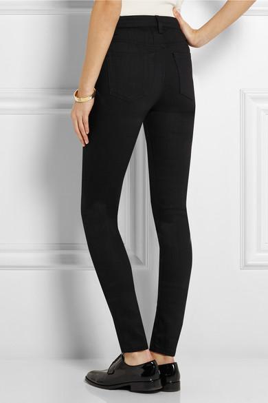 Rise skinny jeans