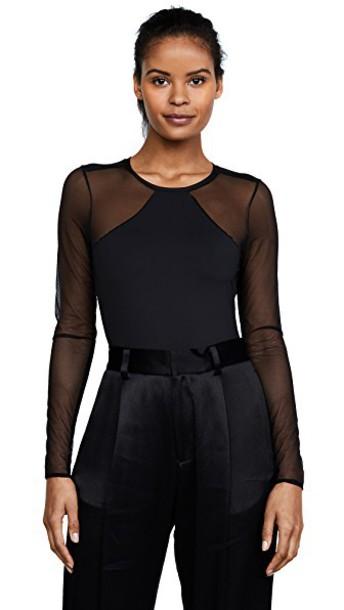 bodysuit long sleeve bodysuit long black underwear