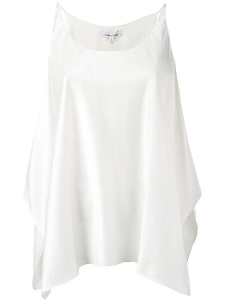 Elizabeth and James blouse women white silk top