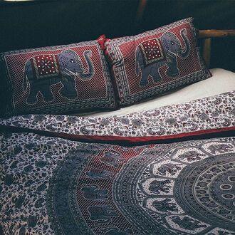 home accessory by the moon mandala elephant throw peppermayo boho bed throw