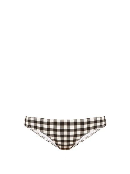 Ephemera bikini gingham white black swimwear