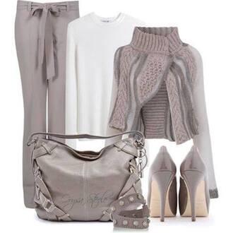 jacket pants wool heels shoes purse bag accessories bracelets