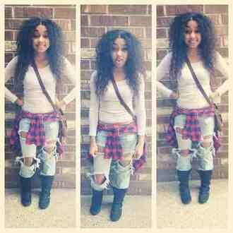 jeans johnna paige curly hair