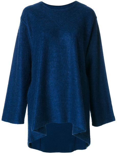 Mm6 Maison Margiela jumper loose women fit mohair blue sweater