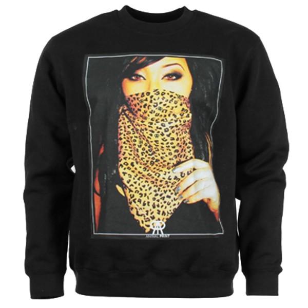leopard print animal print badass bandana crewneck sweater