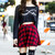 Plaid Skater Skirt - Red | Obsezz