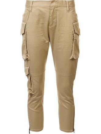 cropped brown pants