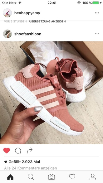 shoes pink sneakers adidas adidas nmd