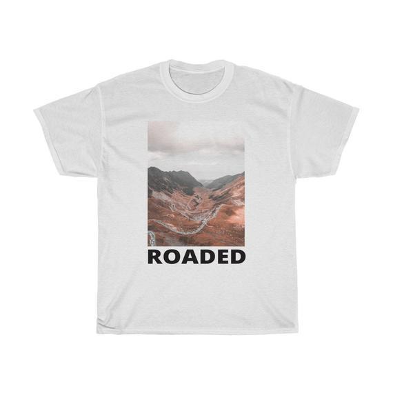Unisex Cotton T-shirt photoprint Mountain road