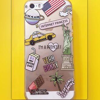 phone cover yeah bunny flag princess kawaii space alone iphone cover iphone iphone case palm tree print