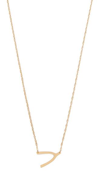 mini wishbone necklace jewels