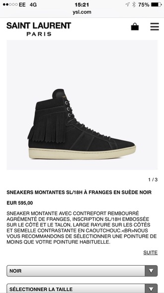shoes yves saint laurent ysl logo sneakers style fashion dark