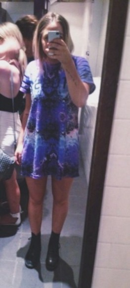 dress purple dress stussy blue dress tshirt dress