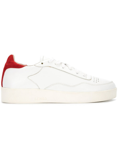 Senso women sneakers leather white suede shoes