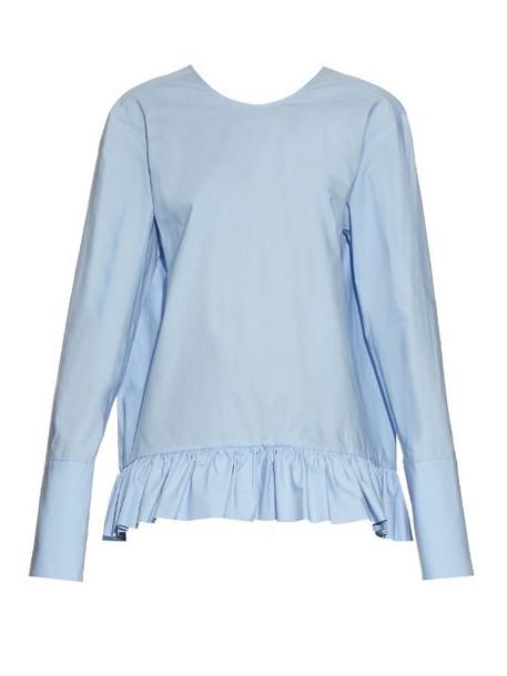 MARNI top long cotton light blue light blue
