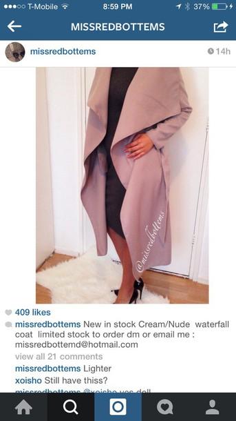 coat taupe long coat jacket pea coat style luxury
