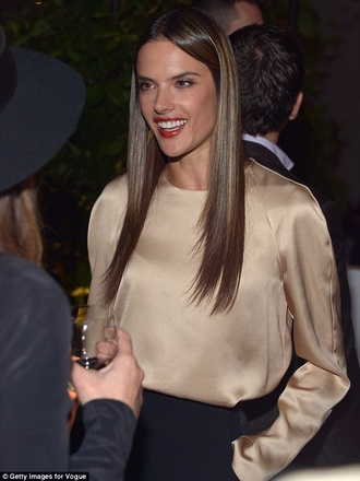 blouse silk top alessandra ambrosio