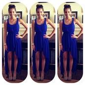 dress,blue,royal,hi lo,royal blue dress,royal blue,hi low dresses