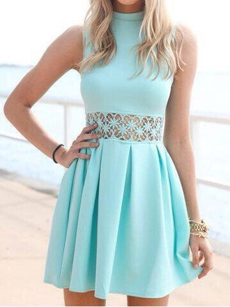 dress baby blue classy designer skirt top shop new turquoise