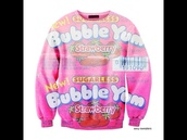 sweater,sexy sweater,bubble gum,pink