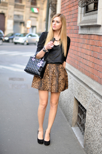 chiara the blonde salad brown skirt skirt