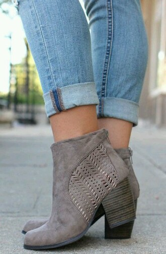 shoes boots taupe woman
