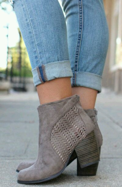 shoes boots booties taupe women