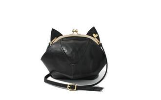 bag black cats cat purse purse black kitty bag kitty