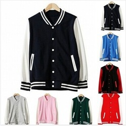 Online Shop Hotsale!! Vintage 2014 Autunm Korean Unisex Blank Varsity Jacket,Jumper Long Sleeve Plain Baseball Coat 7 Colors S-XXL C46010|Aliexpress Mobile