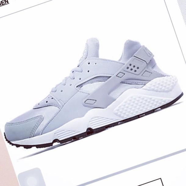 shoes nike running shoes huarache grey sneakers nike